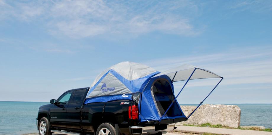 zelte f r pickup mit hardtop oder suv von sportz by napier. Black Bedroom Furniture Sets. Home Design Ideas